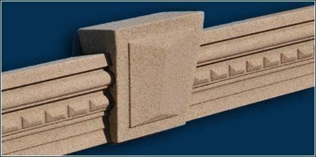 Schlussstein und Fassadenprofil beschichtet