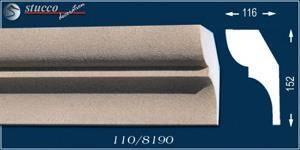 Beschichtete Variante des Dachgesimsprofils Tokyo 110