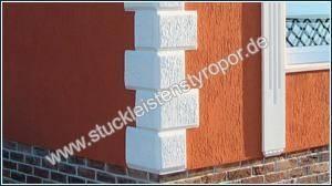 Quadersteine aus Styropor für eine individuelle Fassadengestaltung
