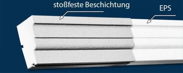 Fassadenstuck aus EPS mit Beschichtung