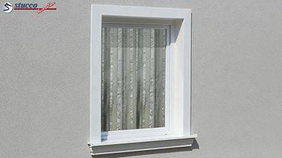 Aussenstuck Profile als Fensterverzierung