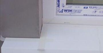 Fensterbank Alu und Fenster - Ränder abkleben