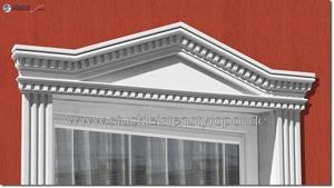 Fassadenstuck Tympanon Dreieckbekrönung