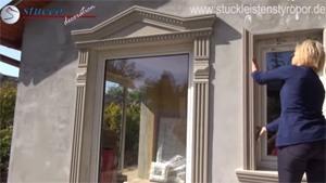 Fassadenprofil in Fensterleibung andrücken