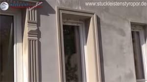 Fensterleibung komplett isoliert und verziert - in einem Arbeitsgang
