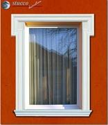 Fensterumrandung Fassadenprofil Oxford 102 doppelte Eckelemente