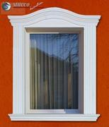 Flexible Stuckleisten Fensterverzierung mit Innenbogen und Außenbogen
