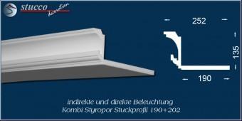 Indirekte Beleuchtung - L-Profil Stuckleiste Essen 190+202
