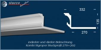 Indirekte Beleuchtung - L-Profil Stuckleiste Essen 270+202