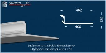 Indirekte Beleuchtung - L-Profil Stuckleiste Essen 400+202