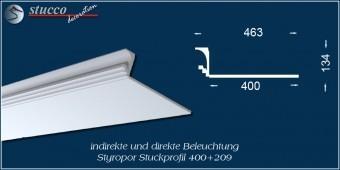 Indirekte Beleuchtung - L-Profil Zierleiste Dortmund 400+209