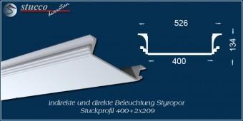 Indirekte Beleuchtung - U-Profil Zierleiste Dortmund 400+2x209