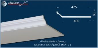 Stuckleiste für direkte LED Beleuchtung Trier 400+14