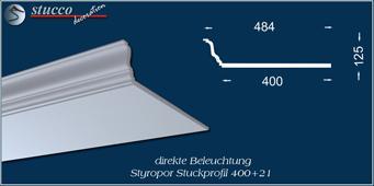 L-förmiges Stuckprofil Düren 400+21