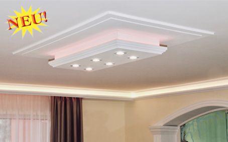 Komplette Stucklampen mit direkter und indirekter Beleuchtung