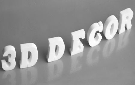 3D Buchstaben und 3D Zahlen aus Styropor