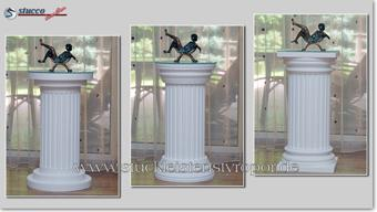 Dekosäulen - verschiedene Kapitelle und Säulenfüße