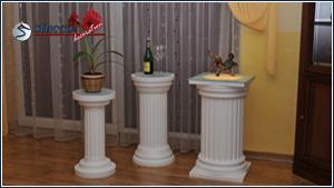 Beschichtete Dekosäulen zur individuellen Raumgestaltung