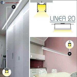 Aluschiene Linea 20 als LED Deckenbeleuchtung
