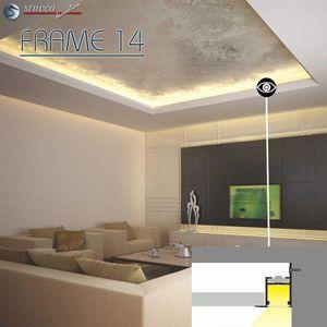 LED Deckenbeleuchtung Aluprofil in abgehängter Decke