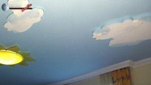 Deko Wolken Styropor zur Deckenverzierung Babyzimmer