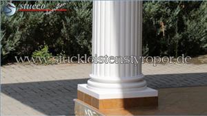 Dorischer Säulenfuß mit Kunstharz-Quarzsandbeschichtung Stuckprofil OFK-2K