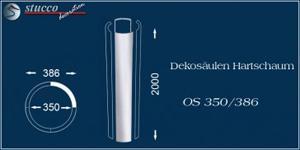 Glatte Dekosäule aus Styropor OS 350-386