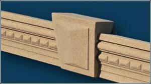 Fassadenstuck mit Quarzsand-Kunstharz-Beschichtung