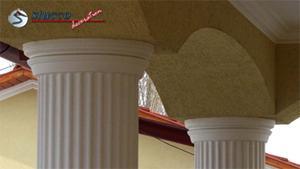 Dekosäulen mit Säulenkapitell im Stuckmuster Ankara 108