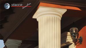 Dorisches Kapitell an Styroporsäulen