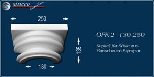 Kapitell aus Styropor mit Stuckprofil OFK-2