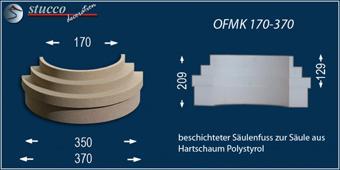 Beschichteter Säulenfuß aus Styropor OFMK 170-370