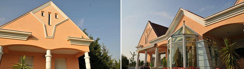 Verschiedene Gesimse zur modernen Fassadengestaltung