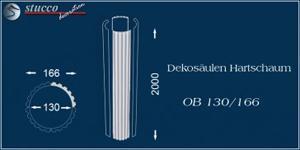 Kannelierte Säulenschaft-Viertel für Säulenschaft aus Styropor OB-130-166