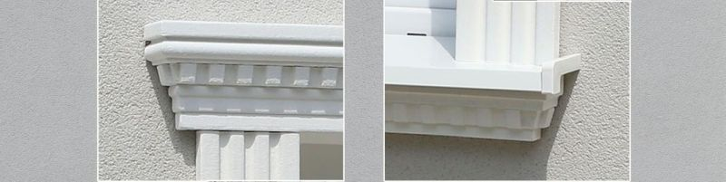Partnerlook für Fenstersturz und Fensterbrüstung
