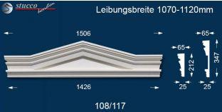 Fassadenleiste Dreieckbekrönung Frankfurt 108/117 1070-1120