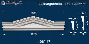 Fassadenstuck Dreieckbekrönung Frankfurt 108/117 1170-1220