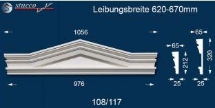 Fassadenelement Dreieckbekrönung Frankfurt 108/117 620-670