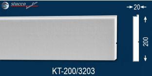 Beschichtetes Laibungsprofil für Fensterfaschen  Frankfurt KT-200-3203