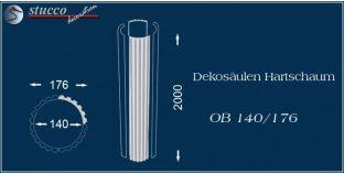 Dekosäulen-Viertel Hartschaum OB 140/176
