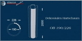 Dekosäulen-Viertel Hartschaum OB 200/236
