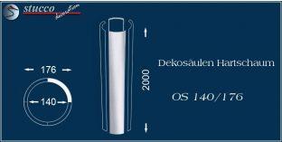 Dekosäulen-Viertel Hartschaum OS 140/176