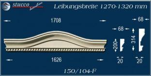 Fassadenelement Bogengiebel Dargun 150/104F 1270-1320