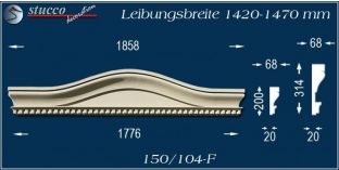 Fassadenelement Bogengiebel Velten 150/104F 1420-1470