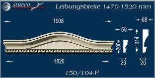 Fassadenelement Bogengiebel Hagen 150/104F 1470-1520