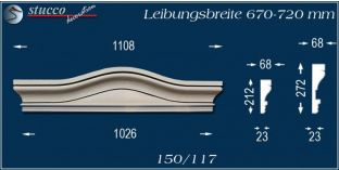Fassadenelement Bogengiebel Cottbus 150/117 670-720