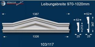 Fassadenelemente Dreieckbekrönung Berlin 103/117 970-1020