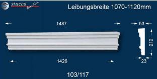 Aussenstuck Tympanon gerade Berlin 103/117 1070-1120