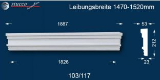 Fassadenstuck Tympanon gerade Berlin 103/117 1470-1520