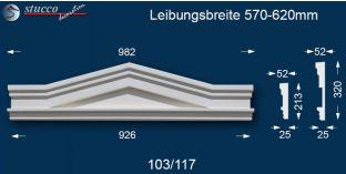 Aussenstuck Dreieckbekrönung Berlin 103/117 570-620